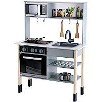 Klein 7199 Cuisine en bois Miele |Comprend une plaque de cuisson avec effets sonores et lumineux | Dimensions : 70 cm x…