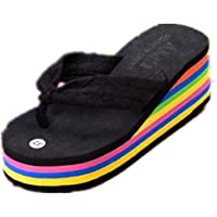 Boowhol Ladies Fashion Sandals Thick Anti-Skid Rainbow Bottom Soft Flip Flops Slippers Various Styles & Colours
