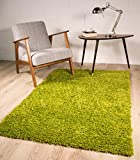 Ontario Anti Shed Durable Long Pile Shaggy Green Lounge Rugs - Available in 5 Sizes