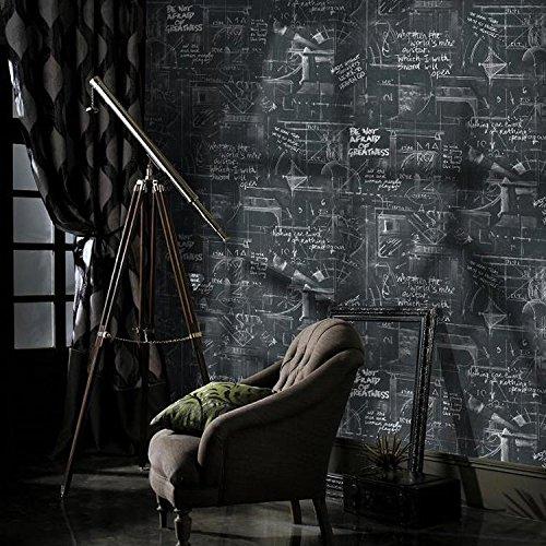 JSLCR Moderne minimalistische Linien Tapete abstrakte schwarze Zeichen Buchstaben Tapete Tapete Hintergrund der Studie das Wohnzimmer Blackboard