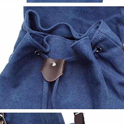 tela tempo libero Maschio / femmina zaino impermeabile indossare Grande capacità zaino 35L Può mettere Libri A4 ipad moda Ogni giorno , deep blue blue