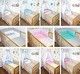 5-6 tlg Baby Bettset mit Chiffonhimmel Bettwäsche Nestchen Sterne Drops D15 6 tlg