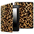 Fintie SmartShell Case for Kindle Paperwhite - The Thinnest and Lightest Cover With Auto Sleep / Wake for All-New Amazon Kindle Paperwhite (Fits All 2012, 2013, 2015 and 2016 Versions), Leopard Brown