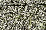 0,5 m * 1,4 m Stoff Filz - gefilzt - grau und grün Punkte
