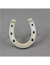 Metal Esmalte Pin Broche Herradura de caballo (Cromado) Pony Equitación Equestrian–Herradura