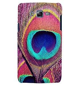 Citydreamz Peacock/Feathers/Abstract/Birds Hard Polycarbonate Designer Back Case Cover For Samsung Galaxy E5