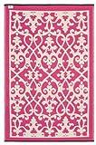 Fab Hab - Venice - Creme & Pink - Teppich/ Matte für den Innen- und Außenbereich (120 cm x 180 cm)