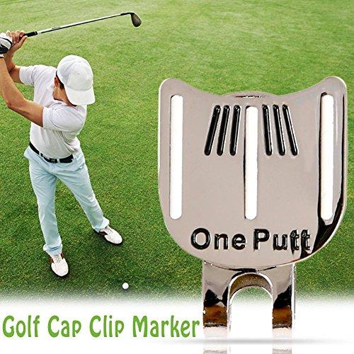 Dire-wolves Legierung Golf Hut Golf Cap Clip mit Magnetischem Ballmarker, Einzigartiges Design