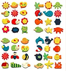 Jiada Kid's Cute Nature Theme Magnets (Multicolour) - Pack of 144