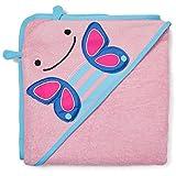 Skip Hop 235294 Zoo Bad Kapuzenhandtuch Baumwolle für Schmetterling Blossom, mehrfarbig