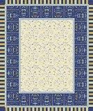 Bassetti Oplontis Tischdecke, Baumwolle, Blau, 150 x 250 x 1 cm in