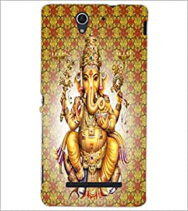 PrintDhaba Lord Ganesha D-4730 Back Case Cover for SONY XPERIA C3 (Multi-Coloured)