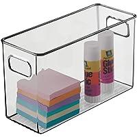mDesign boite stockage pour la cuisine, salle de bain, bureau – boite rangement en plastique avec poignées intégrées…