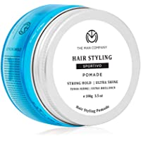 The Man Company Sportivo Stronghold Hair Styling Pomade Wax for Men   Stylish Glossy Finish with Volume   Non Sticky…