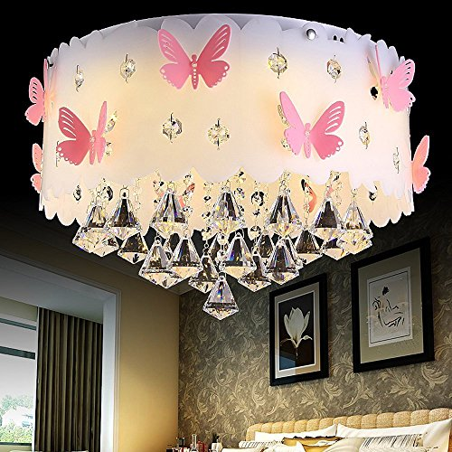 Deckenlampe Kristall Anhänger Prinzessin Mädchen Schmetterling