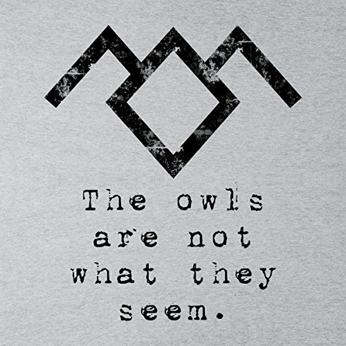The Owls Are Not What They Seem Twin Peaks Men's Vest Heather Grey