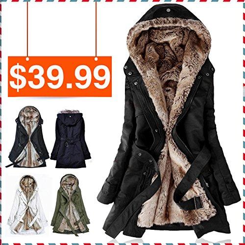 Besten Preis Kunstfell Futter Frauen Pelz Hoodies Damen Pelzmäntel Winter warm langen Mantel Jacke Kleidung aus Baumwolle thermische Parkas (Jacke Down Beste)