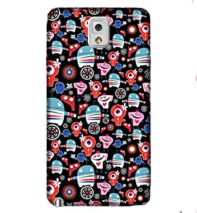 Note3 Colourful Graphic & Illustration Phone Back coverGI66