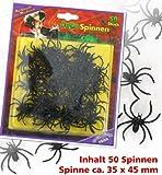 FASCHING 54458 Deko Halloween 50 Spinnen NEU/OVP