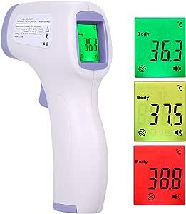 Termometro a infrarossi Senza Contatto LCD per la misurazione della Fronte Display Digitale a Tre Colori con retroilluminazione