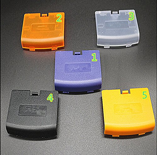 Junsi Replacement Ersatz Battery Batterie Cover Case Tasche Back Door Part for Nintendo Gameboy Advance GBA Color Transparent Batterie Back Door Cover Case