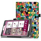 Telekom Tablet Puls Hülle - Fintie Premium Kunstleder Folio Schutzhülle Tasche Etui mit Standfunktion für Telekom Puls 8 Zoll Tablet, Mosaic