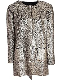 63967beb Marie Mero Gold Long Sleeve Crackle Effect Jacket