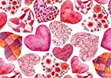 Tischsets Platzsets abwaschbar Fantasy Hearts von ARTIPICS 4er-Set Platzdeckchen Kunststoff 42x30 cm nicht nur für Kinder romantisch und kreativ