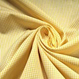Stoff Baumwolle Vichy Karo klein gelb weiß 1,5 mm Swafing