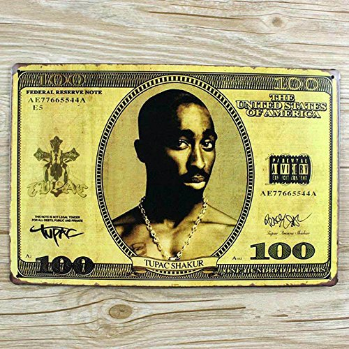 Vintage decorazioni artigianali sticker decor e la musica hip-hop segni di stagno bande di placca di metallo bar wall art poster cafe decorazione 20x30cm