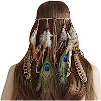 Repuhand Indiana Copricapo Boemia donne della nappa Fascia per capelli Fascia per Partito Headwear Hair Styling…