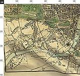 Landkarte, London, England, Vintage, Britisch Stoffe -