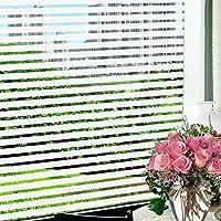 Wopeite Calcomanía franja opaca para vidrio, le da privacidad, decorativo, para oficinas, salas de reuniones y puertas de vidrio 45X200CM
