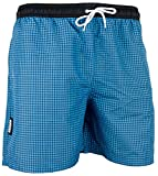 GUGGEN Mountain Maillot de Bain pour Homme de materiau High-Tech Slip Shorts Checked *differentes Couleurs* Colour Bleu L