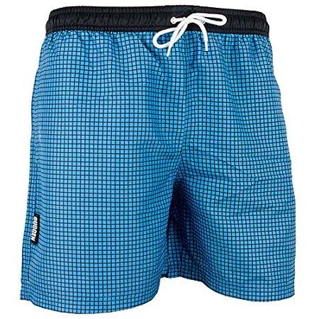 GUGGEN MOUNTAIN Maillot de bain pour homme de materiau high-tech slip shorts checked *Bleu Pourpe*