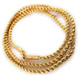 AFJ GOLD Micro Gold Plated Copper Traditional Designer Fashion Jewellery Daily Rassi Rope Thali Saradu Chain for Women (Gold,