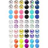 14G 60 Pezzi Mix Colore Palla di ricambio Acciaio inossidabile & Chiaro Acrylique Barra per Industriale Piercing/Capezzolo/Li