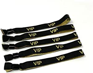 Silber Glitter Glitzer Twist4 10 VIP Stoff Einlassb/änder VIP Stoffb/änder Festivalb/ändchen Kontrollb/änder VIP Eintrittsb/änder 10 St/ück 10