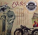 1935 Geburtstags-Geschenke - Kompilation Musik CD - Leere Jahr Grußkarte Geschenk - 20 Original HitParaden Songs - Karte misst 15 x 14 cm