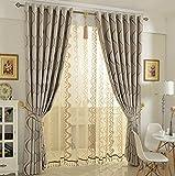 Gardinen für Wohnzimmer, Modern Einfachheit Blickdicht Verdunklungsgardine Vorhang für Schlafzimmer Wohnzimmer 1 piece-A 200x210cm(79x83inch)