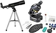 National Geographic telescopische en microscoopset voor kinderen en beginners, inclusief smartphone-camera-adapter en uitgeb