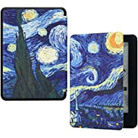 HoYiXi Custodia per Nuovo Kindle 2019 Slim Cover in Pelle Smart Cover con Auto Sonno/Risvegliare Dipinto Custodia per Amazon Nuovo Kindle (10th Generation 2019) - Notte Stellata