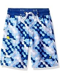 Nautica Boys' Printed Swim Trunk with Side Pocket