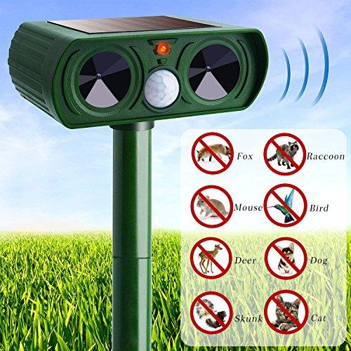 X1n Design Solar Ultraschall Tier abweisende LED blinkende Nagetier Fahren, um Katzen zu vertreiben, Hunde Mücken im Freien wasserdicht Ultraschall-Ausgabe