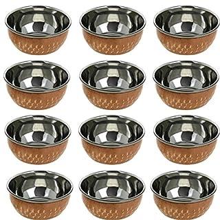 AVS Store indischen Servieren Geschirr Schüssel (Katori-) Traditionelle Kupfer Katori-Küche Zubehör Set von 12