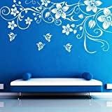 DreamKraft ButterFly Floral Wall Sticker For Kids Room |Living Room|Bedroom|Office PVC Vinyl Art Decals(28X13 Inch)