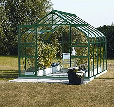 Vitavia Gewächshaus Diana - Ausführung:8300 ESG 3 mm Grün, Fläche:ca. 8,3 m², Fenster:2, Maße:263 x 321 cm, Sockel:255 x 317 cm, von Vitavia - Du und dein Garten