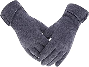1 Pair Outdoor Gloves Touch Screen Velvet Lining Winter Gloves Cycling Gloves
