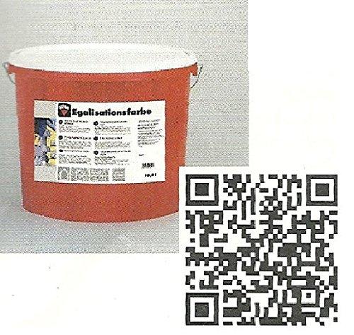 Keim 1801120 Egalisationsfarbe/Fassadenfarbe in weiß 5l
