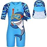 Traje de baño para niños Jurebecia Traje de baño de tiburón Cangrejo de Pescado de una Pieza Traje de baño de Manga Corta Pro